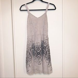 Free People Small Lace Dress Cream, Black Details
